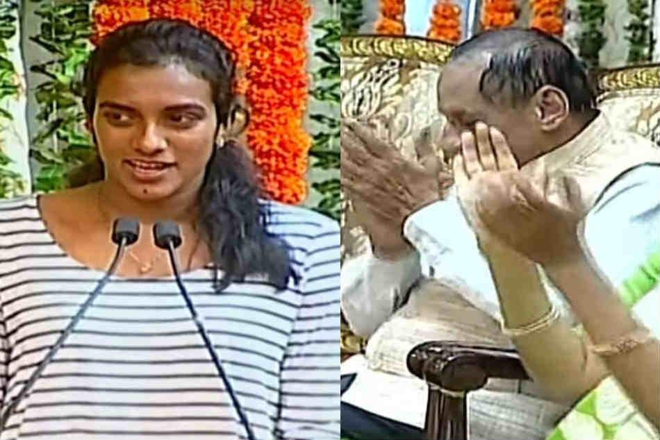 Pv Sindhu Felicitated By Governor Narasimhan At Raj Bhavan