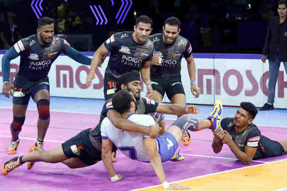 Pro Kabaddi League 2019 U Mumba Beat Tamil Thalaivas 29 24 Curse Of Leg Continues For Hosts