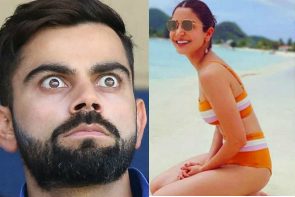 Bollywood Heroine Anushka Sharma post bikini photo in social media, Virat Kohli has the best reaction