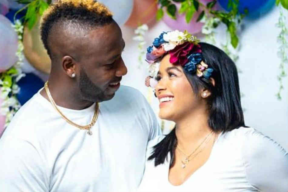 Andre Russell and Jassym Lora announce the arrival of their baby in a grand style