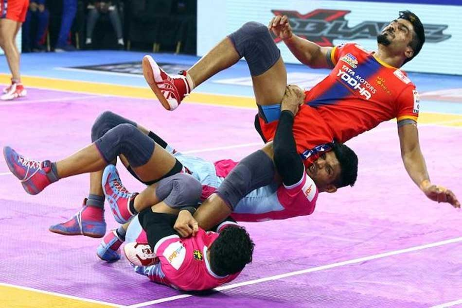Pkl 2019 Day 70 Highlights Titans Beat Up Yoddha 41 36 In A Thriller