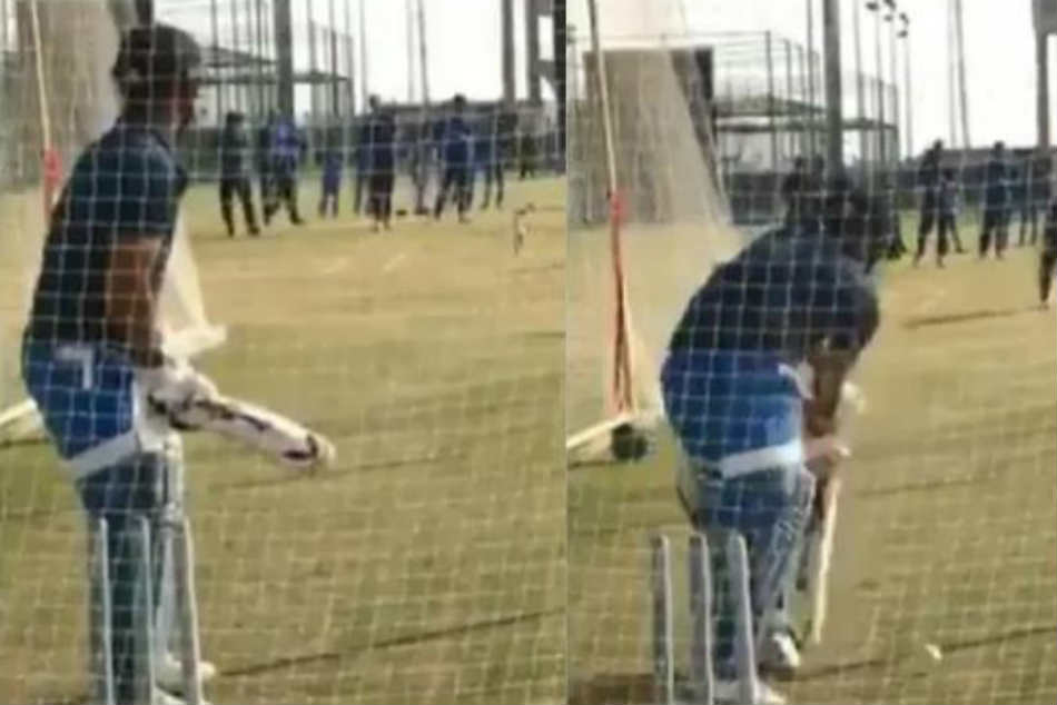 MS Dhoni Back To Net Session After A Long Break At The JSCA Stadium in Ranchi