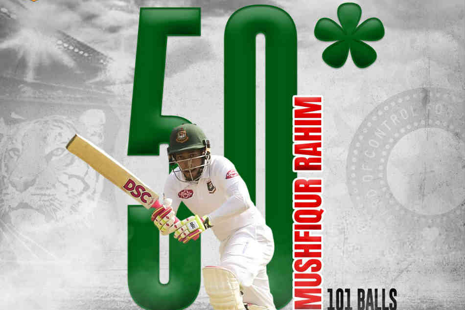 Mushfiqur Rahim Cuts & Sweeps His Way To 50 As Bangladesh Struggle To Stay Afloat