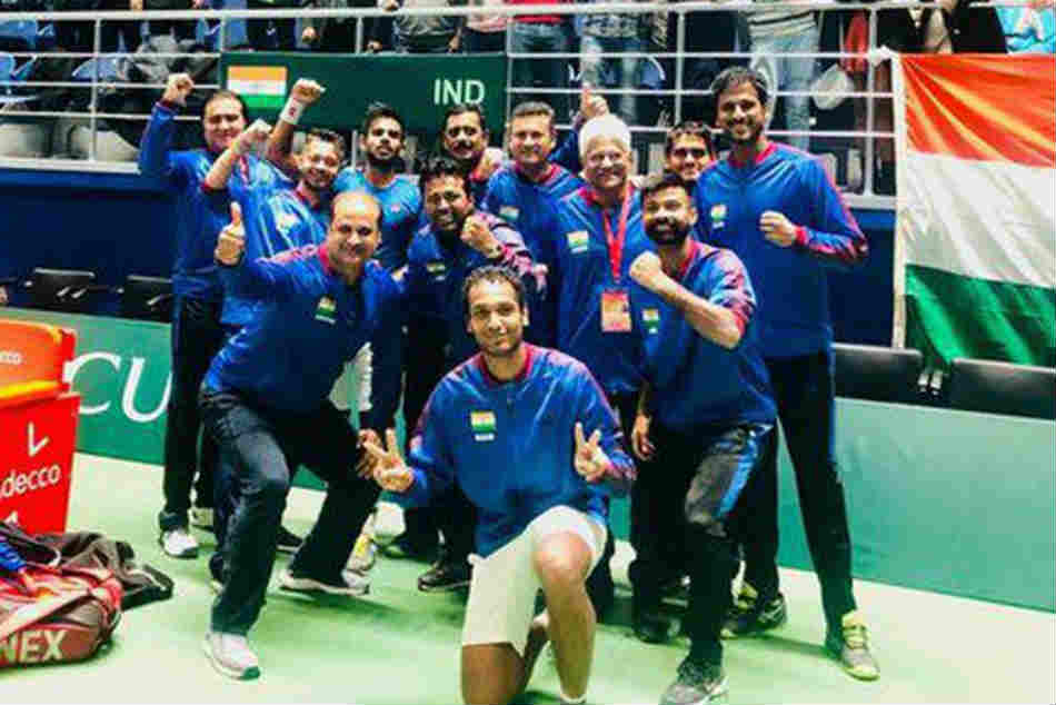 Davis Cup India Secure Win Vs Pakistan With Leander Paes Record Extending 44th Victory