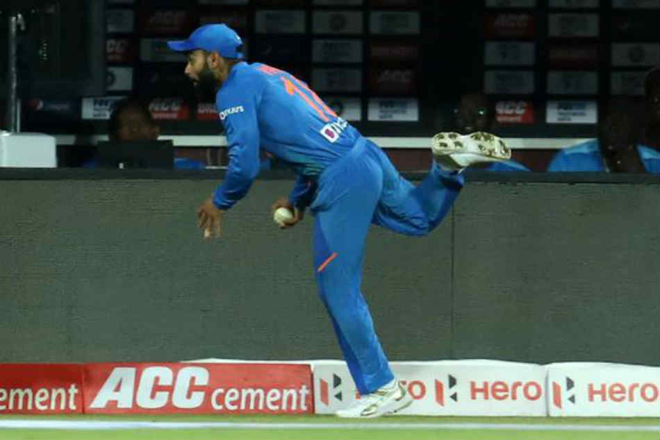 India vs West Indies: Virat Kohli Takes Stunning Catch To Dismiss Shimron Hetmyer - Watch