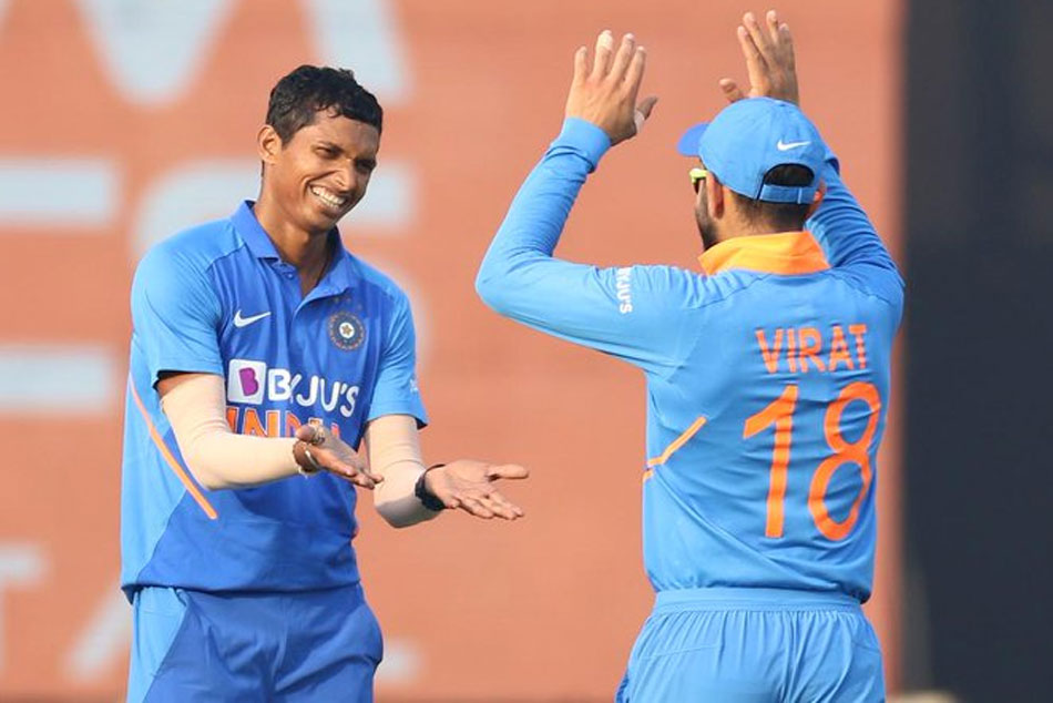 India vs West Indies, 3rd ODI: Navdeep Saini removes Hetmyer, Chase in quick succession