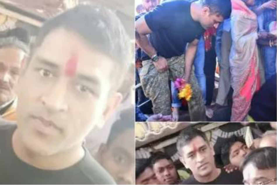 MS Dhoni offers prayers in Deori temple as he resumes training for IPL 2020