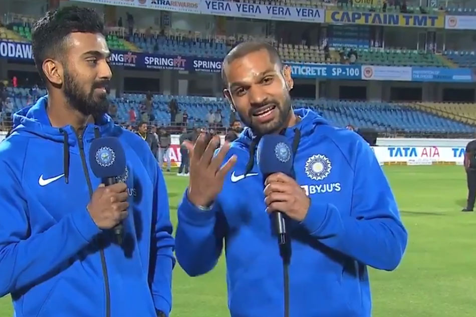 Shikhar Dhawan trolls Rishabh Pant after KL Rahuls brilliant wicketkeeping in Rajkot ODI