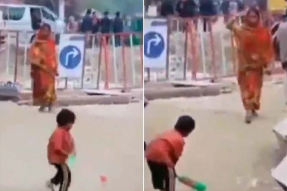Mother bowling, child batting: Kaif shares video