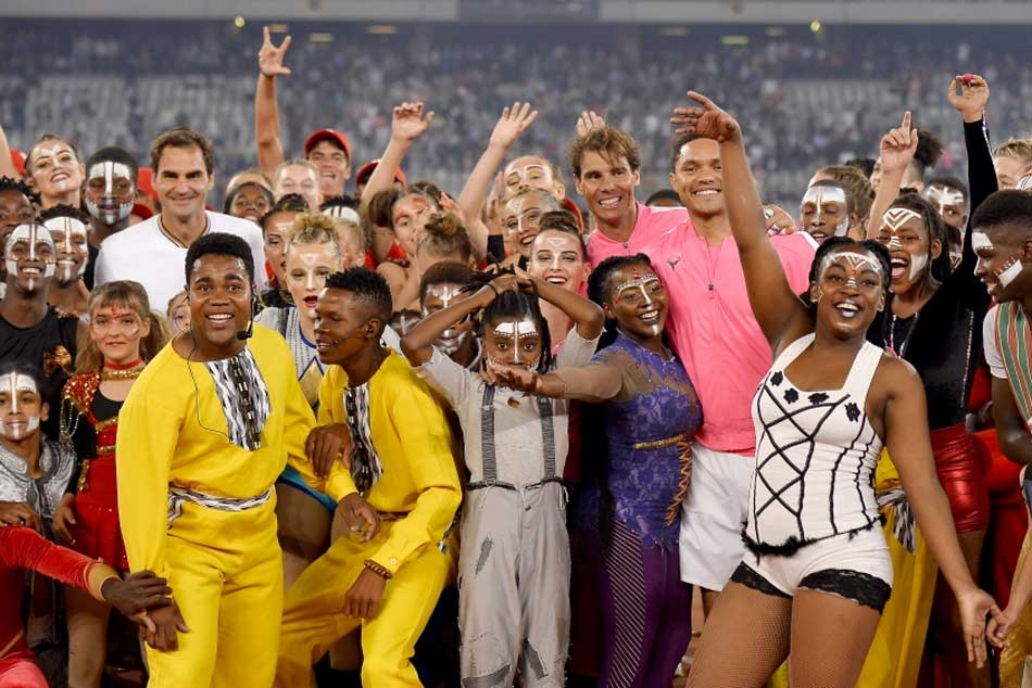 Roger Federer Rafael Nadal Shatter Attendance Record In Match In Africa