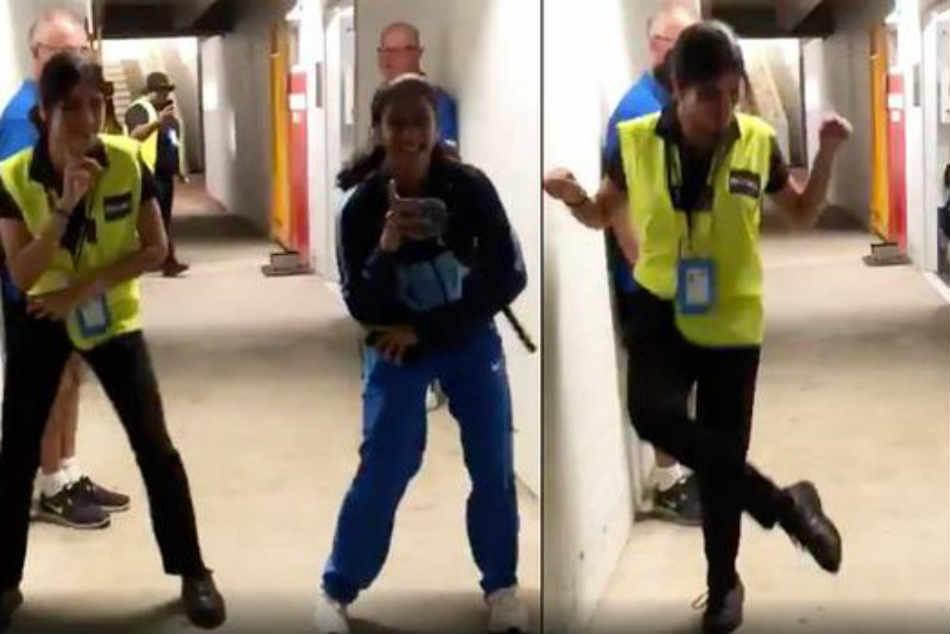 Jemimah Rodrigues shakes a leg with security guard at ICC Women's T20 World Cup 2020