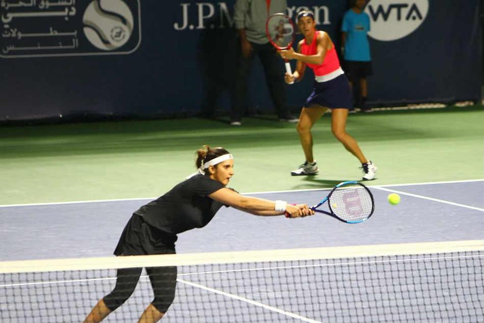 Dubai Open Sania Mirza Caroline Garcia Lose In 2nd Round Of Womens Double