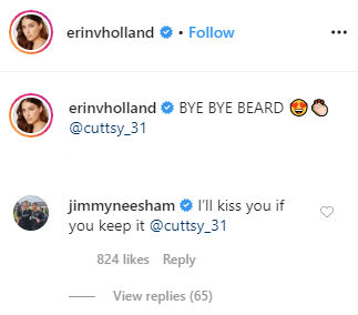 I will kiss you if you keep it, Jimmy Neesham reacts after Ben Cuttings wife says goodbye to his beard