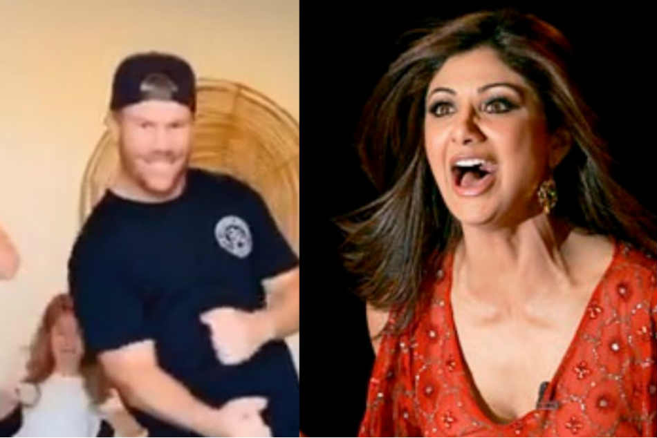 David Warner Cant Stop Laughing, Courtesy Shilpa Shettys Funny TikTok Video