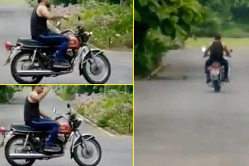 వైరల్ వీడియో: బర్త్ డే రోజున బైక్పై ధోనీ చక్కర్లు.. ఫాన్స్ కేరింతలు!!