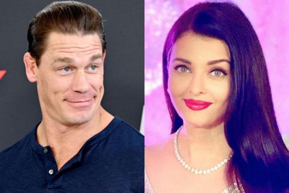 Wwe Superstar John Cena Shares Post Featuring Aishwarya Rai Bachchan After Actress Is Admitted