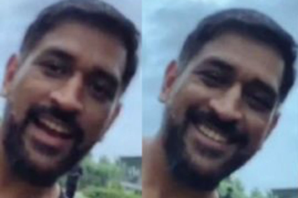 MS Dhoni makes rare appearance in a video, shares new look for fans