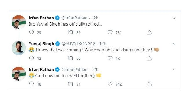Yuvraj Singh responds to Irfan Pathans if Indian team had an all-rounder like Ben Stokes tweet