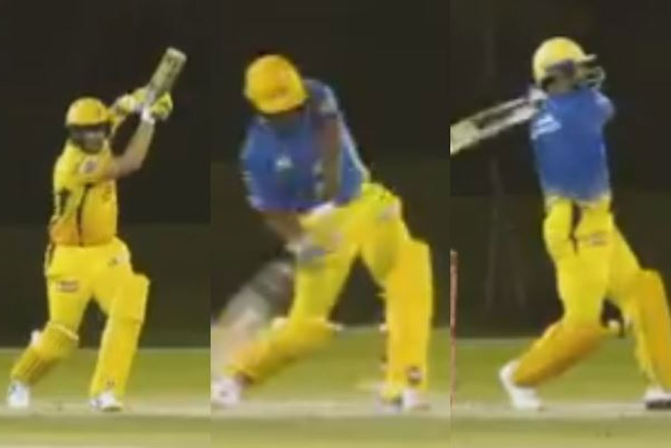 Watch MS Dhoni and company dominate bowlers during CSK's intra-squad practice session