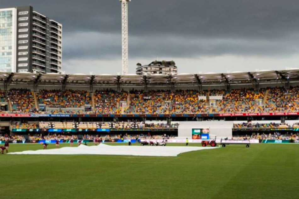 Brisbane Test: Rain delays start of play after Tea