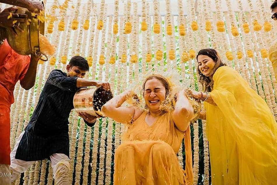Jwala Gutta And Vishnu Vishal S Mehendi Ceremony Photos Goes Viral