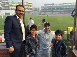 Virender Sehwag His Sons I Will Gift Ferrari Car If You Bre