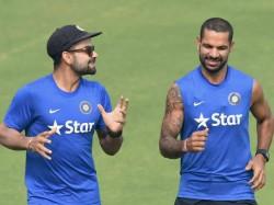 st Test Virat Kohli Picks Dominating Shikhar Dhawan Over