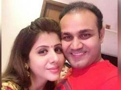 Virender Sehwag S Birthday Wish His Wife Aarti Set Off Jokes
