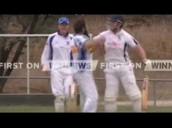 Video Angry Batsman Pushes Bowler After Getting Dismissed