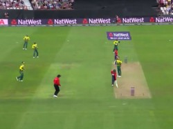 Video England S Jason Roy Given Obstructing The Field T20i