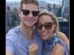 Steve Smith Gets Engaged Girlfriend Dani Willis Atop Skyscraper In New York