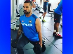 India Vs West Indies Shikhar Dhawan Trains At Gym With Hardik Pandya
