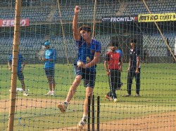Arjun Tendulkar Bowls Team India Nets At Wankhede
