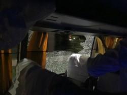Shameful Stone Thrown At Australian Team Bus Guwahati On The Way To Hotel