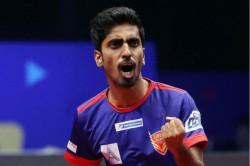 Sathiyan Wins Gold Spain Manika Mouma Clinch Silver