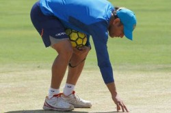India Vs Sri Lanka Ms Dhoni Inspects Cuttack Pitch Fans Line Up To Watch India Nets