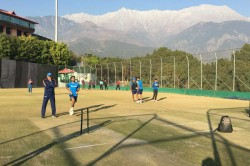 Team India Practice Session At Hpca Stadium Dharamsala On Friday