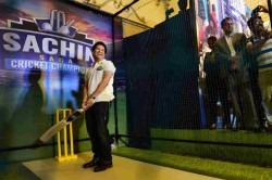 Tendulkar Launches Sachin Saga Cricket Champions