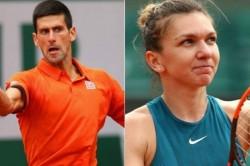 French Open Halep Survives Scare Beat Riske Djokovic Dimitrov Sail Through