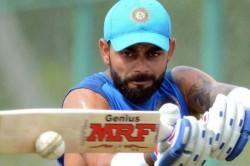 After Neck Injury Virat Kohli Undergoes Light Training Nets At Mumbai