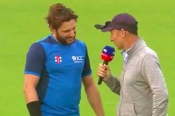Watch Shahid Afridi S Hilarious Answer Nasser Hussain When Asked About Comeback