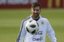Fifa World Cup 2018 Lionel Messi Greeted Chants Messi Messi