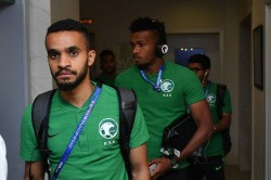Fifa World Cup 2018 Saudi Arabia Football Team S Plane Engine Cathes Fire