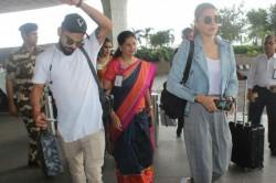 Virat Kohli Anushka Sharma Twinning White Sneakers See Pics