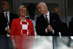World Cup 2018 Croatian President Celebrates Wildly Russian Pm Isnt Amused