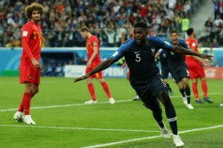 France 1 Belgium 0 Umtiti Heads Les Bleus Into World Cup Final