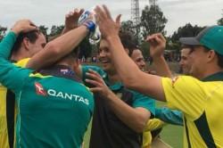 Usman Khawaja S Unbeaten Ton Helps Australia Overpower India B