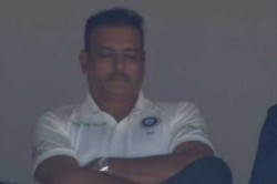 Ravi Shastri Caught Sleeping After Lunch On Day
