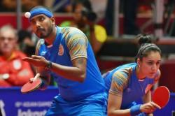 Asian Games 2018 Sharath Kamal Manika Batra Clinch Bronze In Mixed Doubles Table Tennis