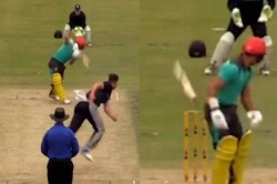 Australian Batsman Fails Hold His Bat Dismissed The Most Bizarre